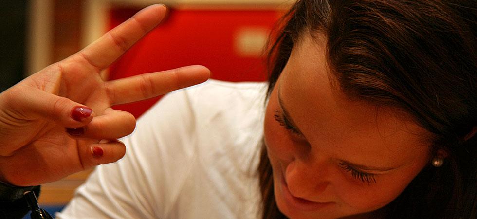 Två fingrar och en tjej
