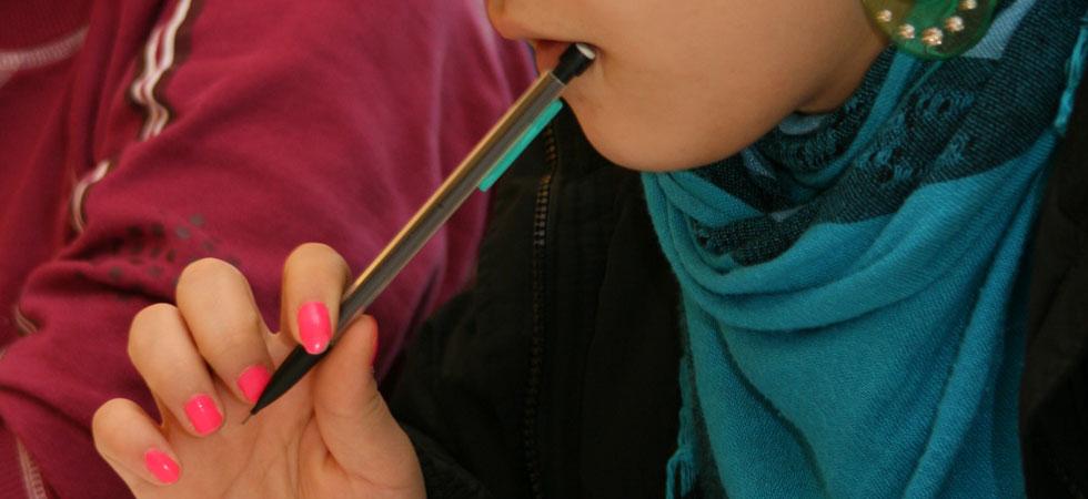 Pennan i munnen